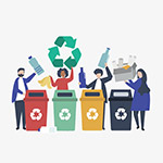 垃圾分�回收人物
