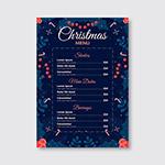 圣诞节菜单模板