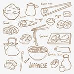 手绘日本美食元素