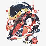 日本概念矢量插画