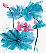 中国风手绘荷花图
