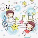 儿童音乐插画