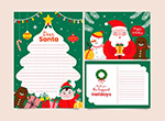 圣诞节信纸模板
