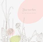 唯美线稿花卉