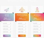彩色飞机图标价格表