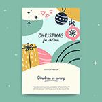圣诞节手绘贺卡
