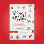 圣诞节矢量促销海报
