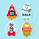 圣诞卡通销售标签