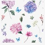 手绘水粉花束背景