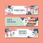 旅行概念设计广告横幅