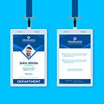 蓝色商务企业工作牌