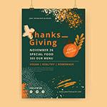 感恩节海报模板