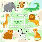 野生动物纵横填字游戏