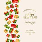 圣诞节新年矢量海报