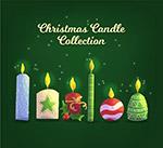 彩色圣诞蜡烛设计