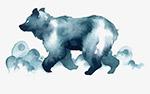 矢量水墨熊