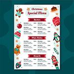 圣诞餐厅菜单模板