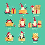 圣诞老人矢量插画
