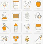 矢量手绘蜂蜜图标