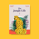 热带动物插画海报
