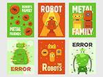 智能机器人矢量插画