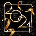 2021新年金色数字海报