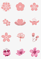 桃花樱花矢量