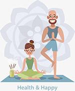 健康养生锻炼瑜伽