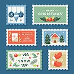 圣诞节卡通邮票