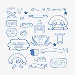 矢量手绘烘焙标签