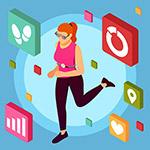 健身应用APP插画
