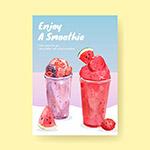 水果冰沙概念海报