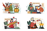 疫情防控与圣诞节人物
