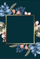 方形金色花卉框