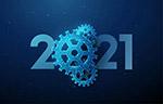 2021科技风新年海报