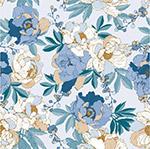 浅蓝色花卉背景