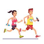 跑步人物矢量插画