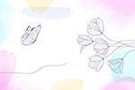 手绘花卉水彩画背景