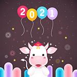 2021新年卡通插画