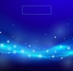 蓝色抽象光点科技背景