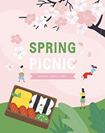 春季出游矢量海报
