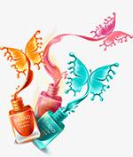 手绘彩色指甲油液体