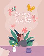 春季矢量插画