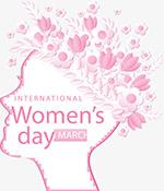 粉红色花朵女人节