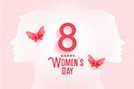 三八妇女节矢量贺卡