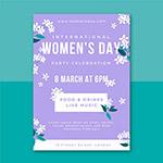 花卉装饰妇女节海报