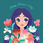 妇女节快乐插画