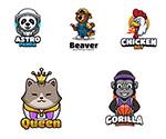 电竞游戏动物徽章