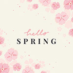 春季花卉边框花框