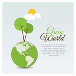 绿色世界海报
